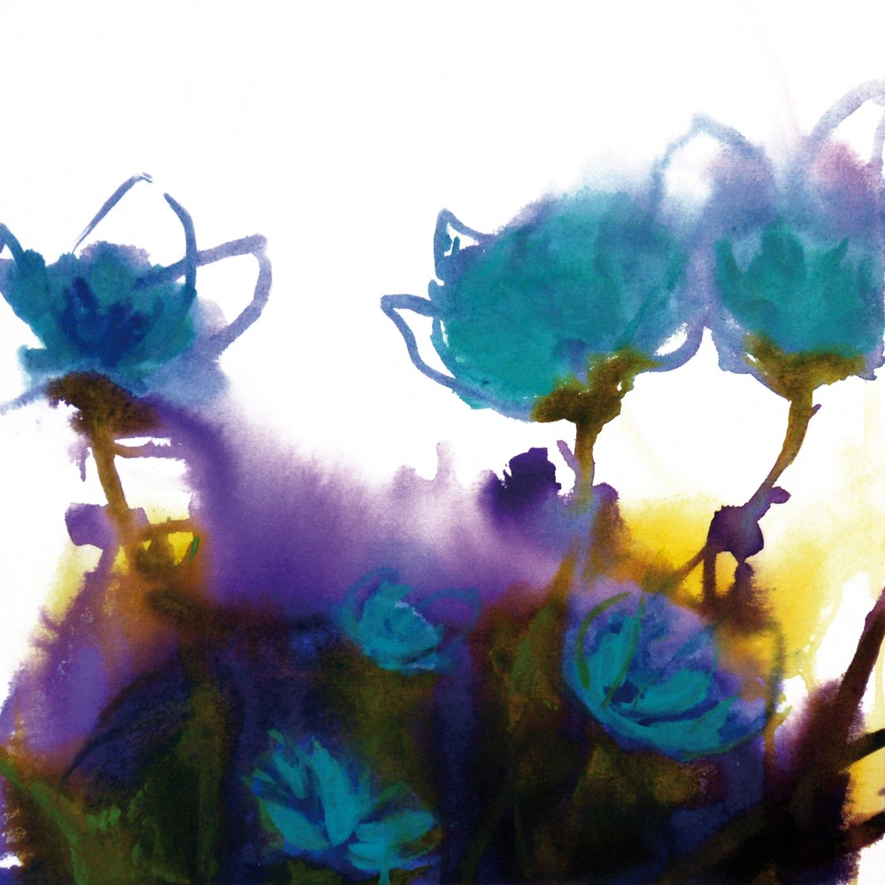 Blue Cotton Flowers by Jill Bryant