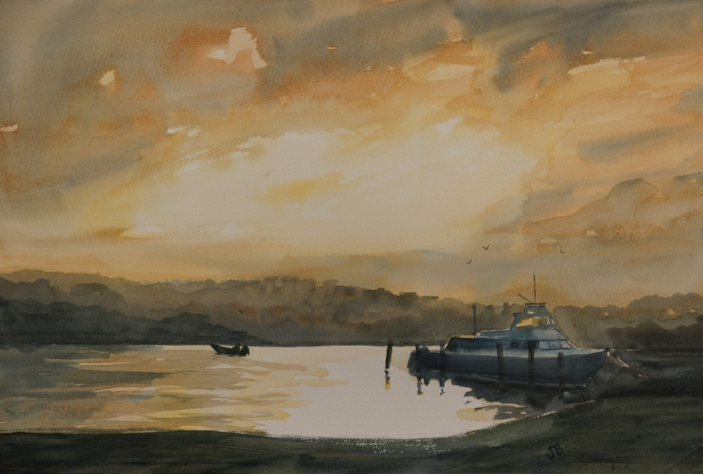 An Evening Glow in East Fremantle by Jill Bryant