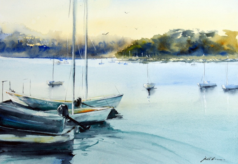 Little Sail Boats - East Fremantle by Jill Bryant
