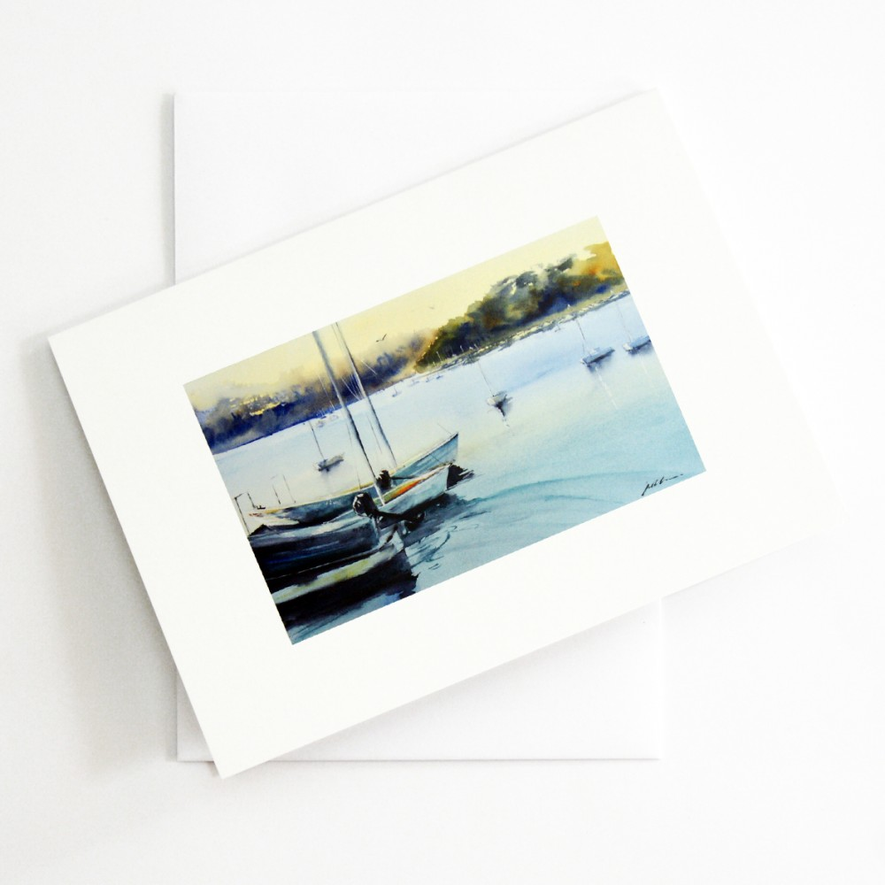 'Little Sailboats - East Fremantle WA' CARD by Jill Bryant