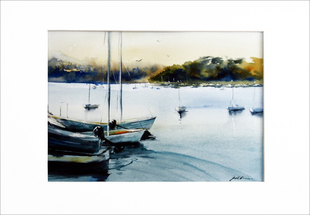 'Little Sailboats - East Fremantle WA' - PRINT by Jill Bryant