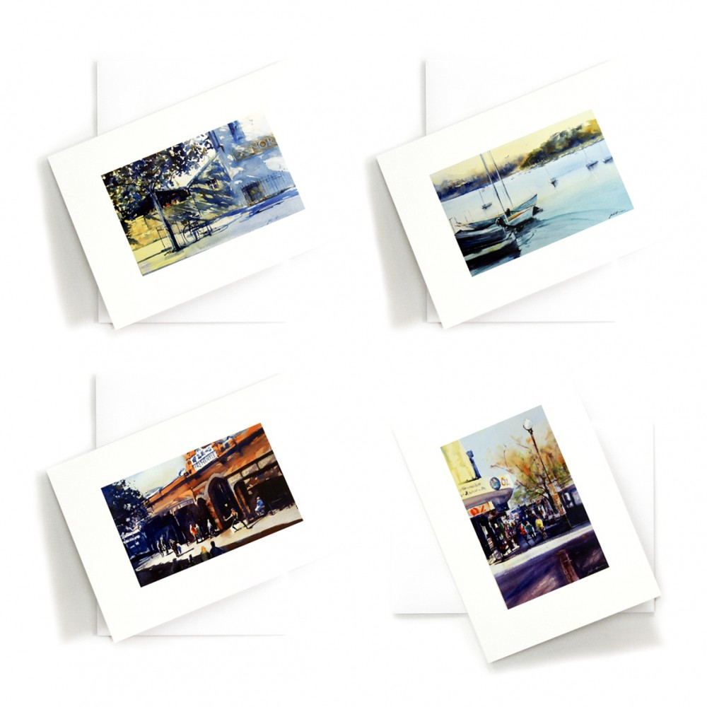 Glimpses of Fremantle - Set of 4 CARDS by Jill Bryant
