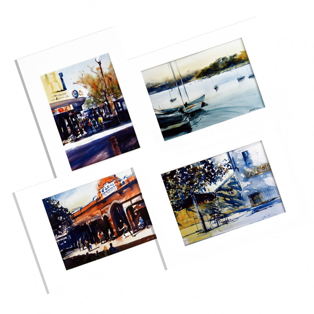 Glimpses of Fremantle - Set of 4 PRINTS by Jill Bryant