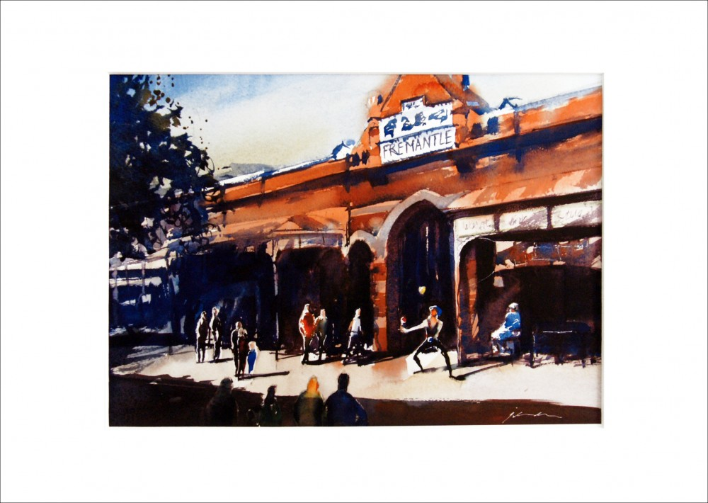 'The Juggler - Fremantle Markets WA' - PRINT by Jill Bryant